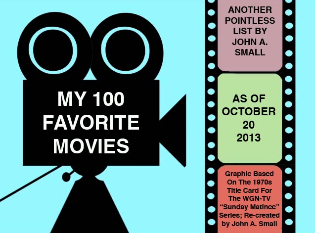 MY 100 FAVORITE MOVIES (FOR THE MOMENT, ANYWAY...)