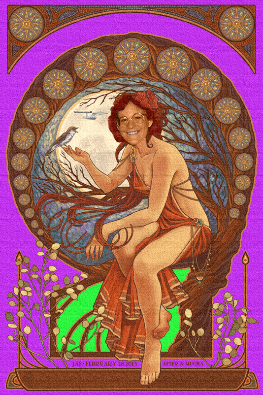 PIC OF THE DAY - A TRIBUTE TO ALPHONSE MUCHA